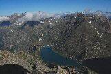 Via Normale Pizzo Recastello - Il lago aritificiale del Barbellino visto dalla cima del Recastello