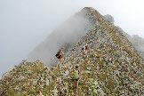 Via Normale Monte Torena - La cresta tra anticima e cima