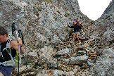 Via Normale Monte Torena - Il canalino per la discesa alternativa