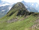Via Normale Monte Serodine - La cresta di salita vista dai pressi di Cima Bleis