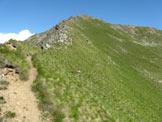 Via Normale Monte Tonale Ovest - La cresta di salita dalla sella con Cima Bleis