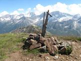 Via Normale Monte Tonale Ovest - La piccola croce sulla cima