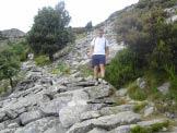 Via Normale Monte Capanne - Il sentiero poco sotto la Cima