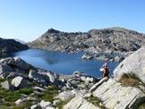 Via Normale Punta Nera - Surettahorn - Il Lago Azzurro a quota 2429 m.
