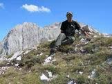 Via Normale Picco Pio XI - Giuseppe Albrizio sulla cima del Picco Pio XI