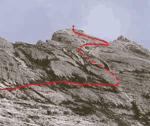 Via Normale Croda Fiscalina di mezzo - Oberbachernspitze M