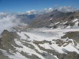 Via Normale Rocciamelone cresta NW - Panorama sul ghiacciaio