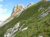 Via Normale Pizzo di Valbona - Il pendio di salita alla cima