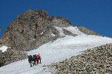 Via Normale Pizzo Bernina - Primo tratto sul nevaio