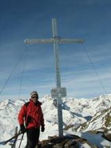 Via Normale Cima Redival - La croce sulla cima