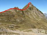 Via Normale Pizzo dell'Orto - La cresta di salita