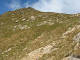 Via Normale Pizzo delle Orobie - Il pendio erboso sotto la cresta