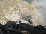 Via Normale Monte del Tonale - Vista sulla cresta di salita e P.so del Tonale da stto la cima