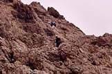 Via Normale Croda Granda - Lungo le rocce della Scaletta
