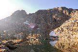 Via Normale Monte Cabianca - Il Monte Cabianca visto dal laghetto di Cabianca