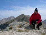 Via Normale Monte Corvo - Vetta Occidentale - Sulla Vetta Occidentale del Monte Corvo 2533 m