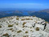 Via Normale Monte Corvo - Vetta Occidentale - Dalla Vetta Occidentale del Monte Corvo, il Lago di Campotosto