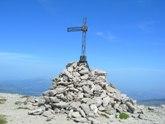 Via Normale Monte Corvo (cresta N) - La Croce di Monte Corvo martoriata dal vento e dal ghiaccio