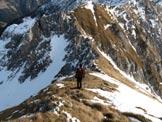 Via Normale Monte Cavallo - Lungo la cresta verso la cima