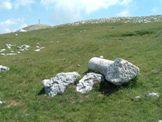 Via Normale Monte Viglio (cresta SW) - Colonnetta n� 248 e la vetta del Monte Viglio
