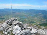 Via Normale Cima D´Arme - Cima d´Arme vista della Piana di Rieti, il Lago Lungo e di Ripa Sottile