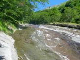 Via Normale Monte Gorzano - Il Fosso dell�Acero in basso prende il nome di Valle delle Cento Cascate