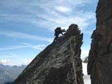 Via Normale Grivola - Cresta NE - Arrampicata sulla cresta nord-est