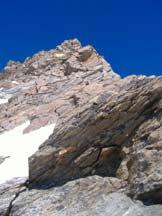 Via Normale Punta Giordani (Cresta del Soldato) - Vista della cresta