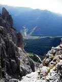 Via Normale Spiz dello Scarpello - Pozza di Fassa dalla cima dello Spiz dello Scarpello