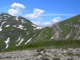 Via Normale Monte di Mezzo del Sevo - La Cima Lepri e il Vado di Annibale 2119 m, visti dal Monte di Mezzo