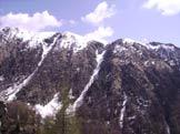 Via Normale Cima di Morisciolo - Cima 1906 e Cimetta di Orino. Al centro il canale di accesso alla cresta.