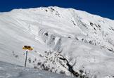 Via Normale Monte Gradiccioli - Il Gradiccioli in veste invernale dal Monte Pola.