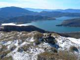 Via Normale Monte di Mezzo di Campotosto - Bellissimo colpo d�occhio sul Lago di Campotosto
