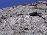 Via Normale Monte Mucrone-Ferrata del Limbo - La placca finale.