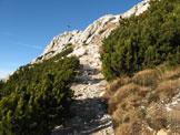Via Normale Weisshorn - Corno Bianco - Tratto di salita sotto la cima