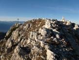 Via Normale Weisshorn - Corno Bianco - La cresta vista dalla cima con ometto