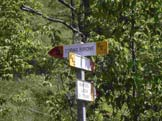 Via Normale Corno Birone - Segnaletica