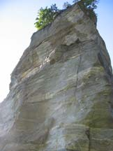 Via Normale Torre delle Giavine - La parete Nord