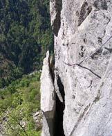 Via Normale Torre delle Giavine - Il passo della Foglia.