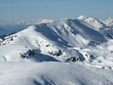 Via Normale Monte Crestoso - Vista invernale dal M. Colombine