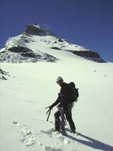 Via Normale Granta Parey - Sul ghiacciaio della Granta Parey