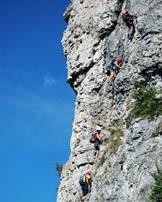Via Normale Monte Due Mani - Ferrata Simone Contessi - Tratto di arrampicata.