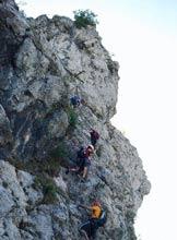 Via Normale Monte Due Mani - Ferrata Simone Contessi - Tratto di arrampicata