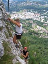 Via Normale Monte San Salvatore - Ferrata D. Ossola - Tratto di Ferrata