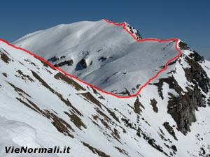 Via Normale Monte Baldo - Coal Santo