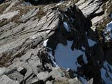 Via Normale I Gui - Punta W - La cresta di salita.