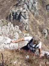 Via Normale Pizzo Ravò - Poco sotto la cima