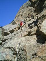 Via Normale Punta della Rossa - Spigolo SE - Primo tiro