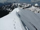 Via Normale Cima di Lemma Est - La cresta finale vista dalla cima