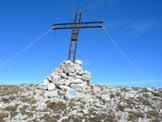Via Normale Monte San Franco (da S) - Monte San Franco 2132 m, la Croce martoriata dalle intemperie